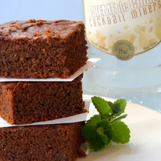 Creme de Cacao and Mint Chocolate Brownies