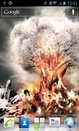 Fiery Tree in Snow LWP