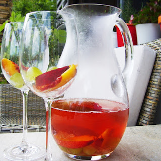 Rosé Sangria with Roses.