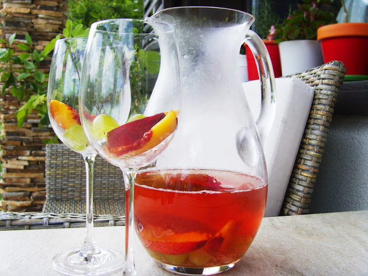 Rosé Sangria with Roses Recipe