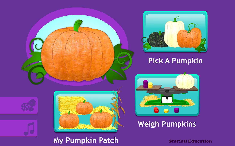 starfall pumpkin screenshot - Starfallcom Free