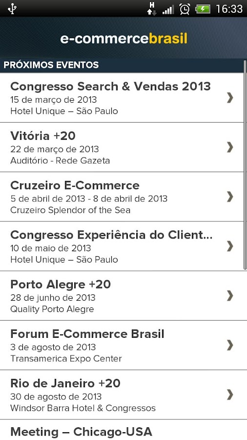 Eventos E-Commerce Brasil- screenshot