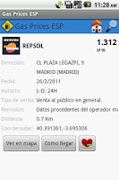 Screenshot of Gas Prices ESP Lite