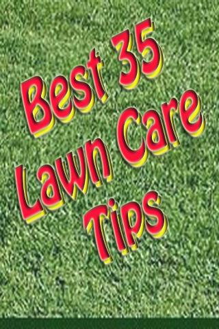 Best 35 Lawn Care Tips