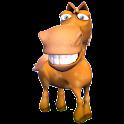 3D Funny Horse sticker logo