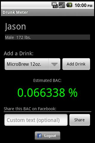 J2J Drunk Meter - screenshot