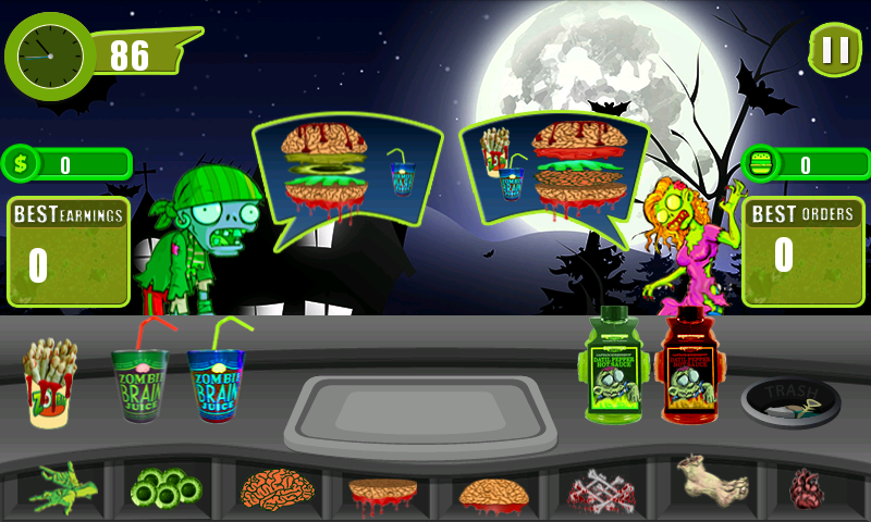 """Restaurant Story"":Zombie Cafe - screenshot"