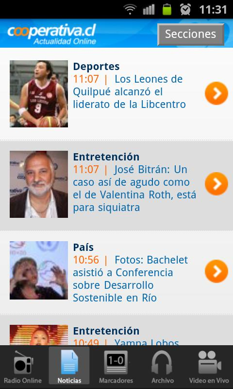 Radio Cooperativa - screenshot