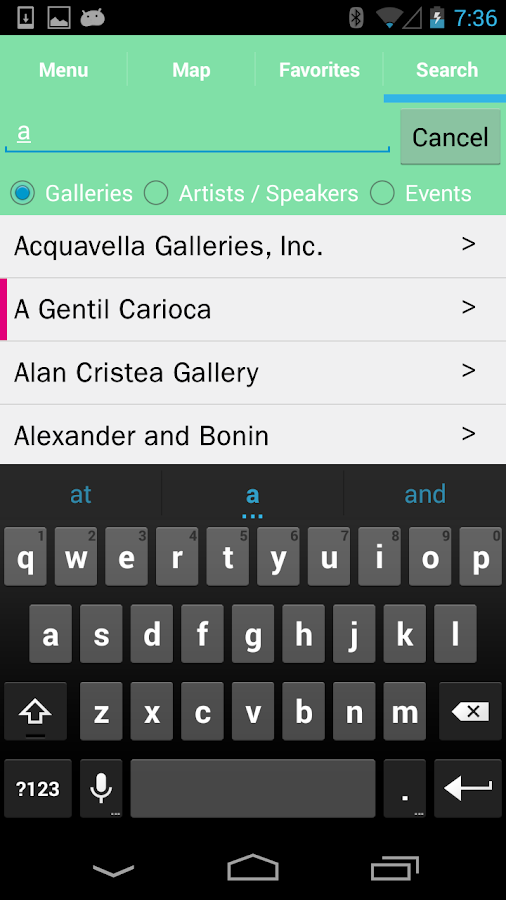 ArtBasel MiamiBeach Guide 2013 - screenshot
