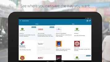 Screenshot of vouchercloud: deals & offers