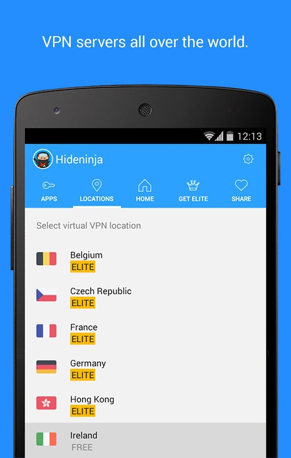 Hideninja: VPN for Android- screenshot