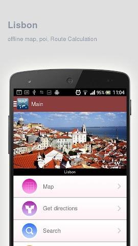 Screenshot 1 Karte von Lissabon offline