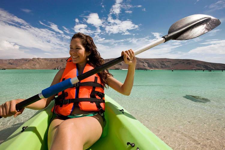 Kayaking in Los Cabos, Mexico.