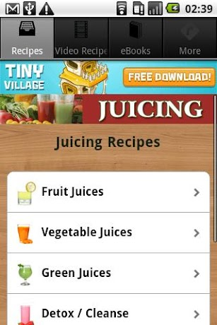 Juicing Recipes, Tips & More! screenshot for Android