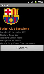 Footbook: Football/Soccer Info - screenshot thumbnail