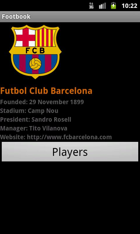 Footbook: Football/Soccer Info- screenshot