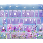 T Glass FlowerP TouchPal Theme