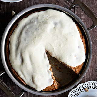 Spiced Eggnog Snack Cake