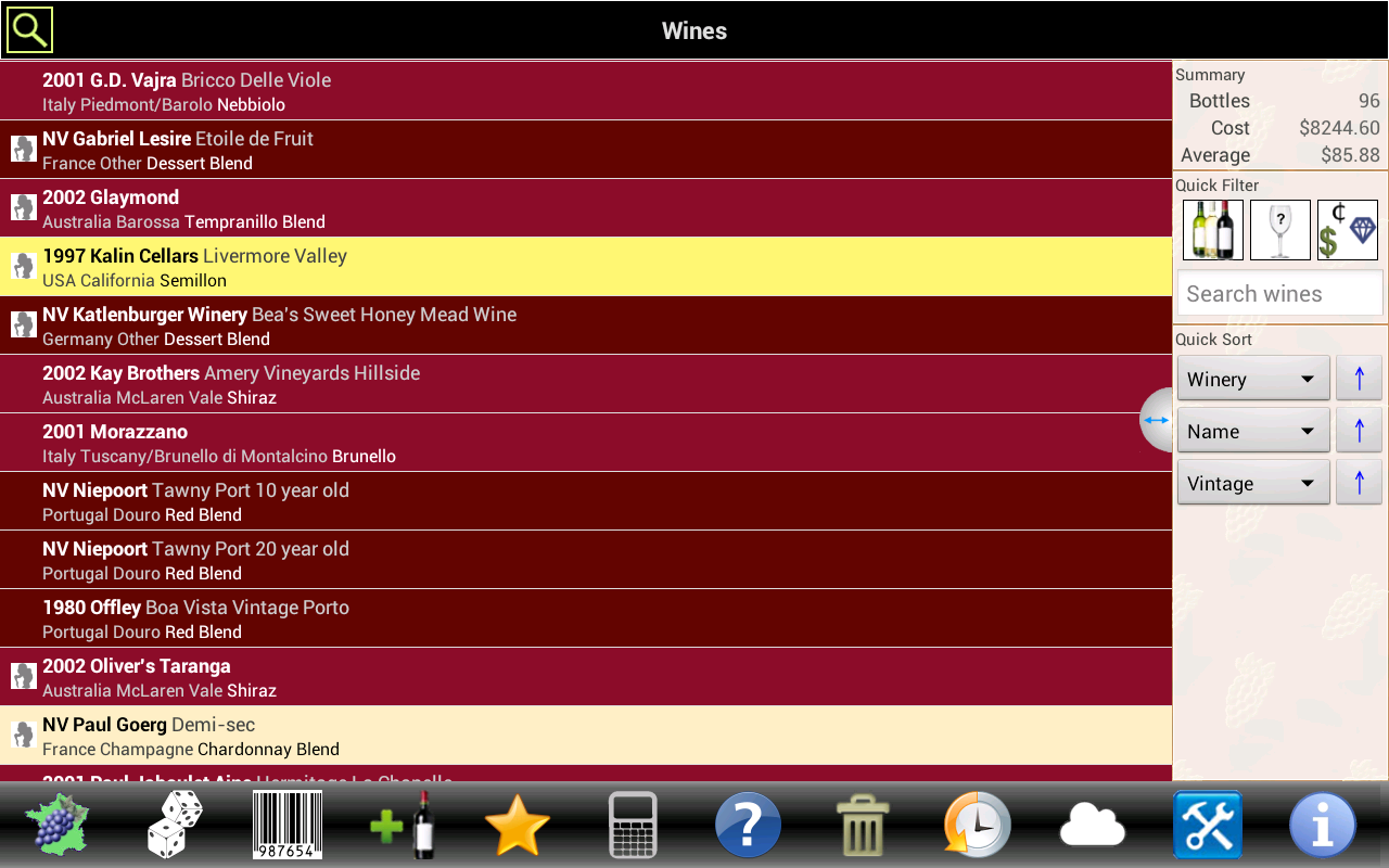 Wine Tracker- screenshot