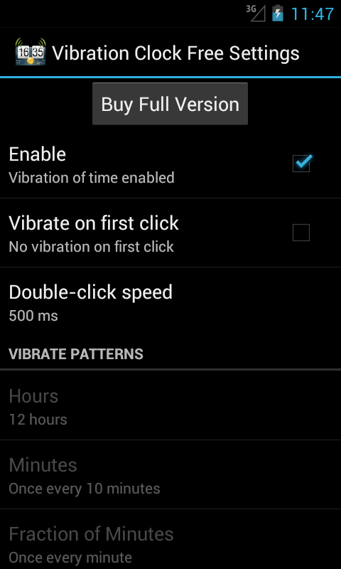 Vibration Clock Free - screenshot