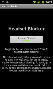 Headset Blocker - screenshot thumbnail