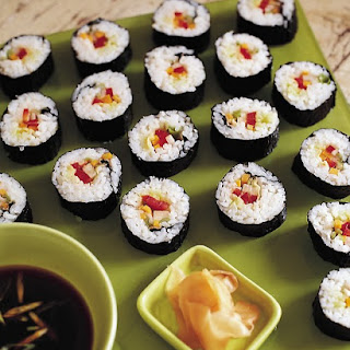 Vegetable Sushi.