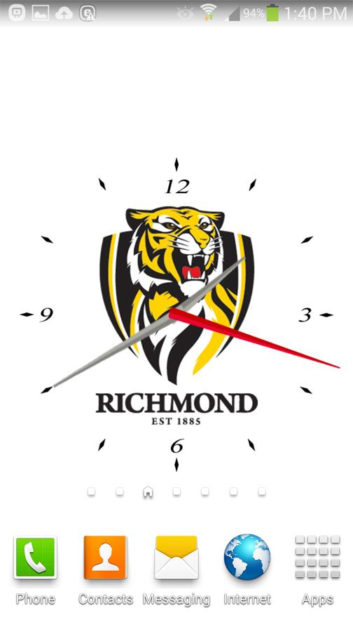 Richmond Tigers Analog Clock- screenshot