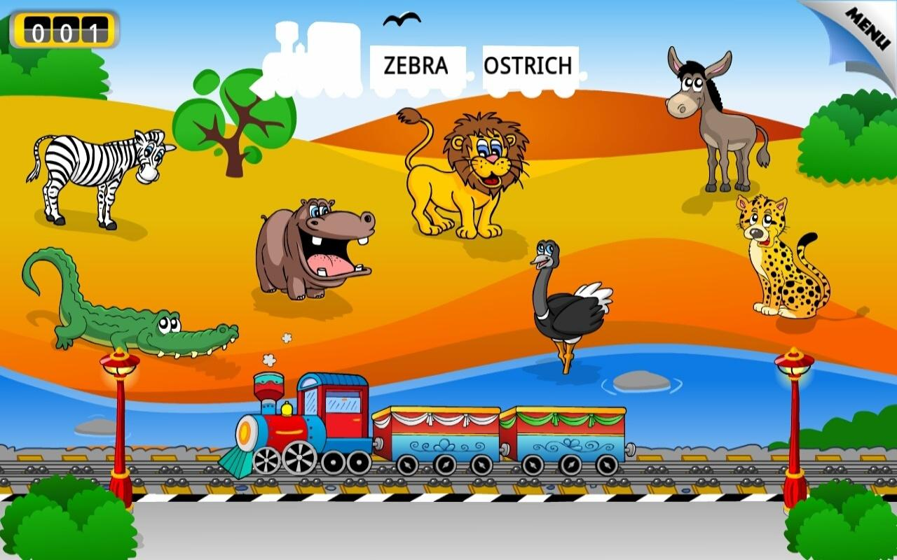 Kids Animal Train - First Word- screenshot