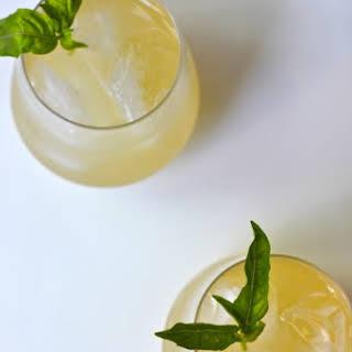 Basil Lemonade Cocktails.