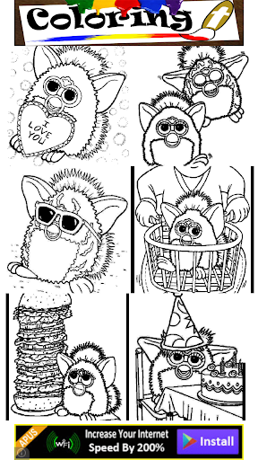 Coloring Furby Pet Kids