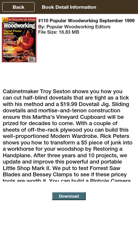 Popular Woodworking eBooks - screenshot