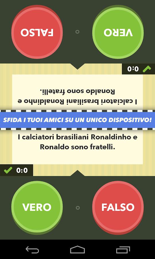 Vero o falso - il gioco - screenshot