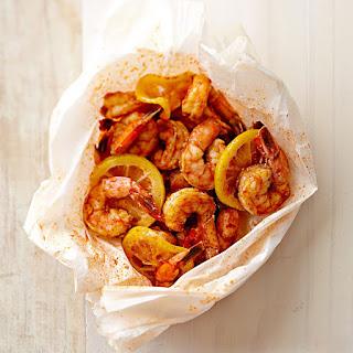 Shrimp with Lemon en Papillote