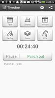 Screenshot of Timesheet - Work Time Tracker