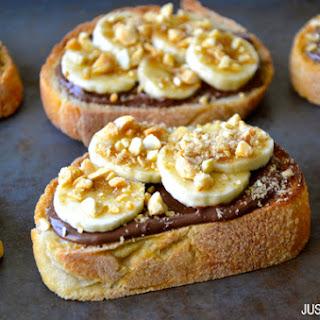 Banana and Nutella Dessert Bruschetta.