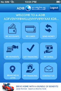 ADIB Mobile Banking - náhled