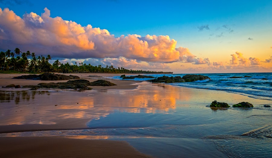 Busca Vida Beach by Richard Duerksen - Landscapes Beaches ( brazil, sunrise, beach, salvador, busca vida )