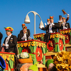 Paraders by Wahan Shahbazian - People Musicians & Entertainers ( hats, parade, carnival, color, men )