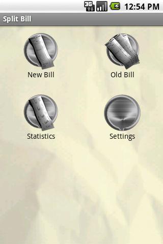 Share the bill- screenshot