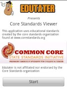 Screenshot of Core Standards Viewer