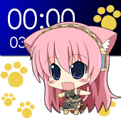 Chibi Luka Clock Widget (2x4)