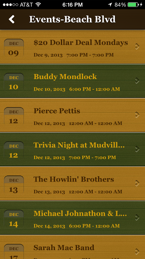 Mudville Grille- screenshot