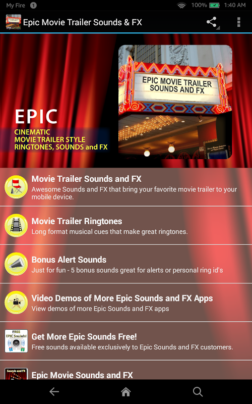 Epic Movie Trailer Sounds & FX APK 1 2 Download - Free Music & Audio