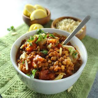 30-Minute Spicy Vegetarian Lentil Stew.