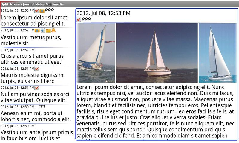 Journal Notes Multimedia Screenshot 1