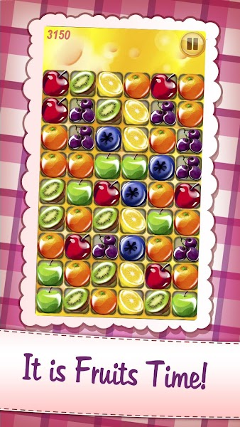 Candy Fruits, puzzle game, candy fantasy, matching game, fruit game