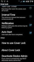 Screenshot of Cover Lock