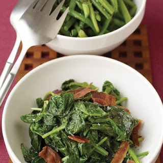 Sauteed Spinach with Bacon.