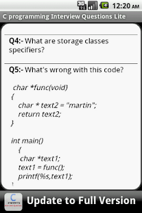 C Programming FAQS Lite- screenshot thumbnail