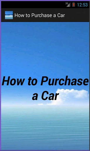 How to Purchase a Car